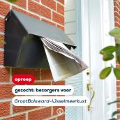 Met spoed gezocht: bezorgers GrootBolsward-IJsselmeerkust