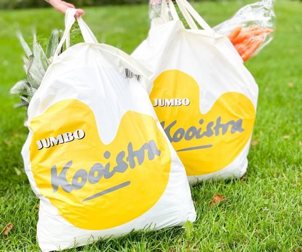 Jumbo Kooistra start met 100% composteerbare, biologisch afbreekbare draagtassen