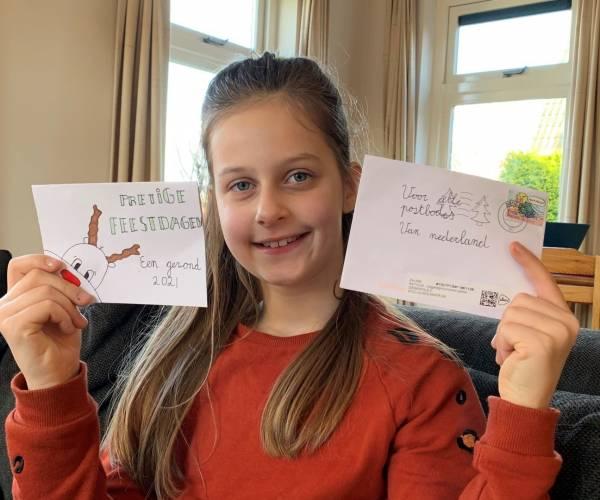 Postbezorgers sturen massaal kaarten naar 9-jarige Britt uit Molkwerum