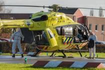 Ontsmetting helikopter na vervoer coronapatiënt