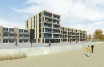 Plannen nieuwbouw van 32 recreatieappartementen en 28 hotelkamers Makkum