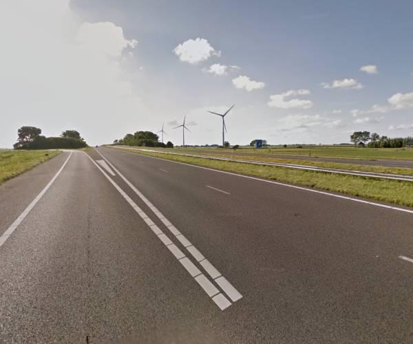 Nachtelijke wegafsluiting op A7 tussen Bolsward en Witmarsum
